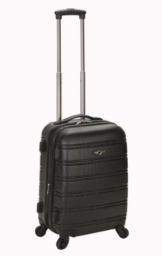 Rockland Melbourne 20-Inch Expandable Abs Carry On Luggage – Black