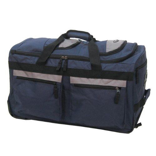 Olympia Luggage 22″ 8 Pocket Rolling Duffel Bag
