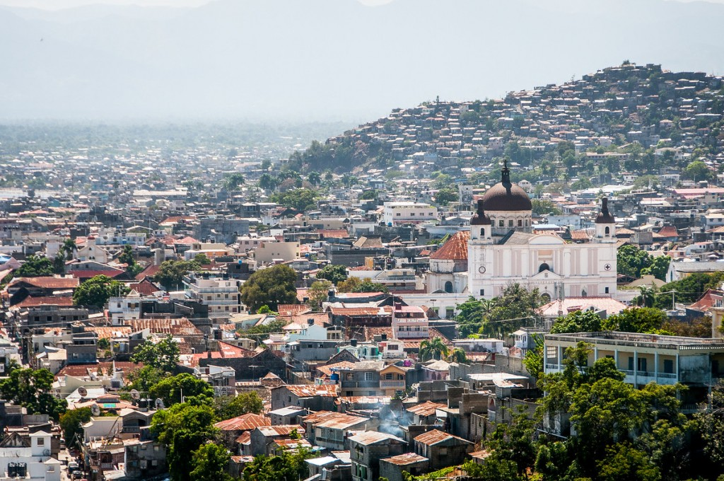 The Skyline and Cathedral of Cap Haitian, Haiti