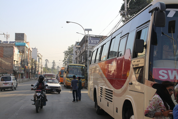 Tourist bus stop in Kathmandu has been moved from Kantipath to Sorhakhutte