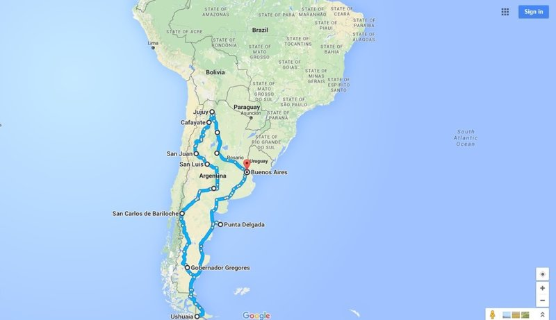 Argentina's Route 40 to the Southern End of the World