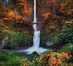 Multnomah Falls, Oregon:  America's Most Beautiful Waterfall