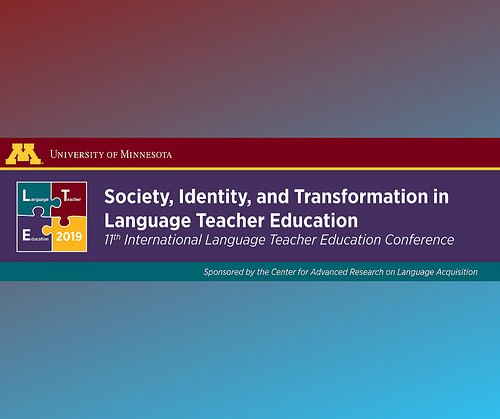 2019 CFP: Society, Identity, and Transformation in Language Teacher Education