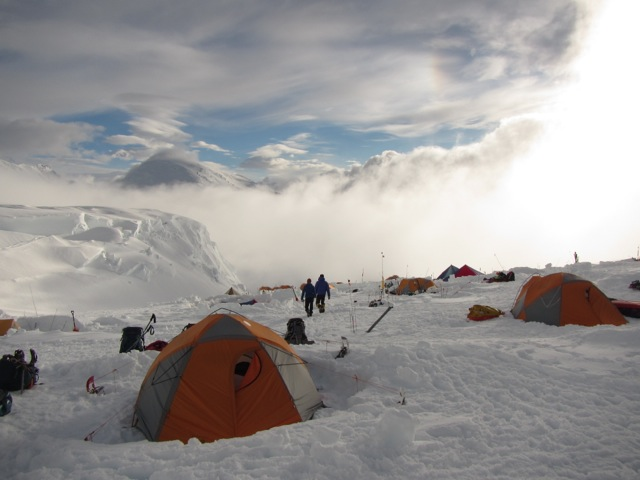 Denali Expedition: Gorum & Team Build Snow Walls and Fortify Camp at 11,200