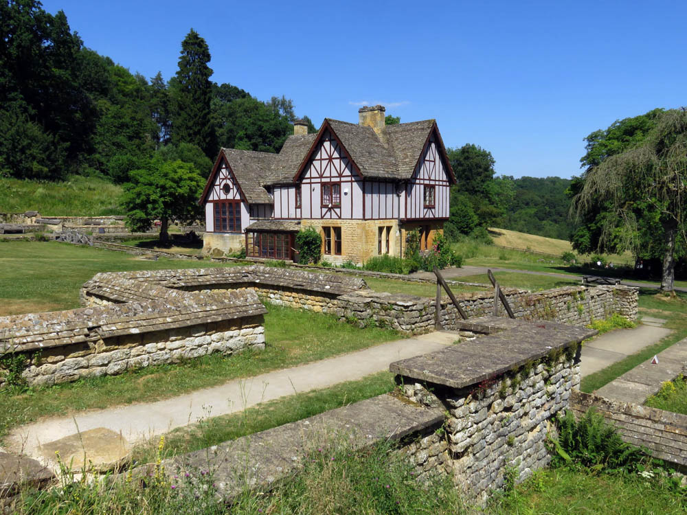 Roman Ruins at Chedworth Villa in the Cotswolds, England