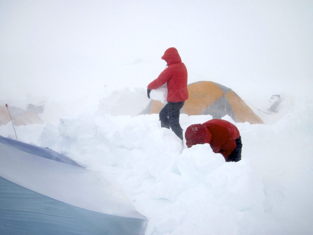Denali Expedition: King & Team Retreat Back to 14,200' Camp