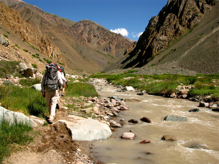 Aconcagua: Scott and Team Trek Out to Pampa de Lenas